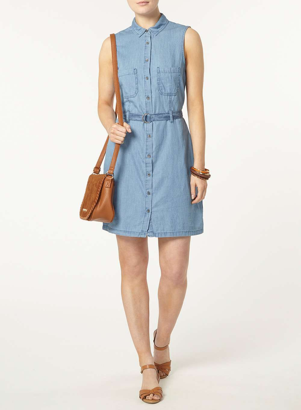 Indigo Sporty Shirt Dress - Dorothy Perkins