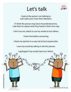 I-Can statements for positive communication | Social ...