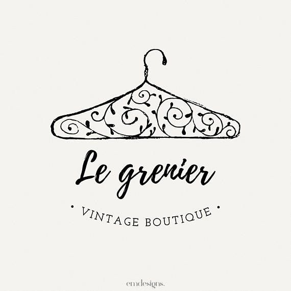 Vintage logo design, Logo boutique, Clothing logo, Premade logo, Custom branding, retro logo, hand drawn logo, blogger logo, Floral logo is part of Vintage Clothes Logo - changerlatypographie ref shop home active 4 Send me a message if you have any questions, I will be happy to help you!