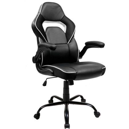 merax executive pu leather office chair ergonomic racing gaming chair swivel computer desk chair with flip