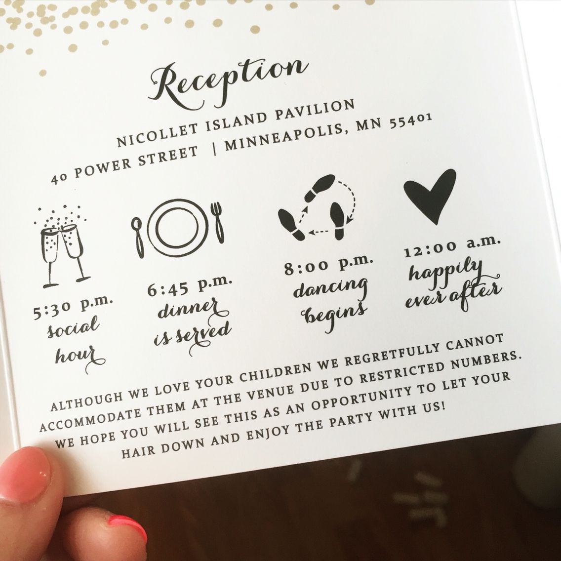 Perfect wording for an adult only wedding Wedding invitations by