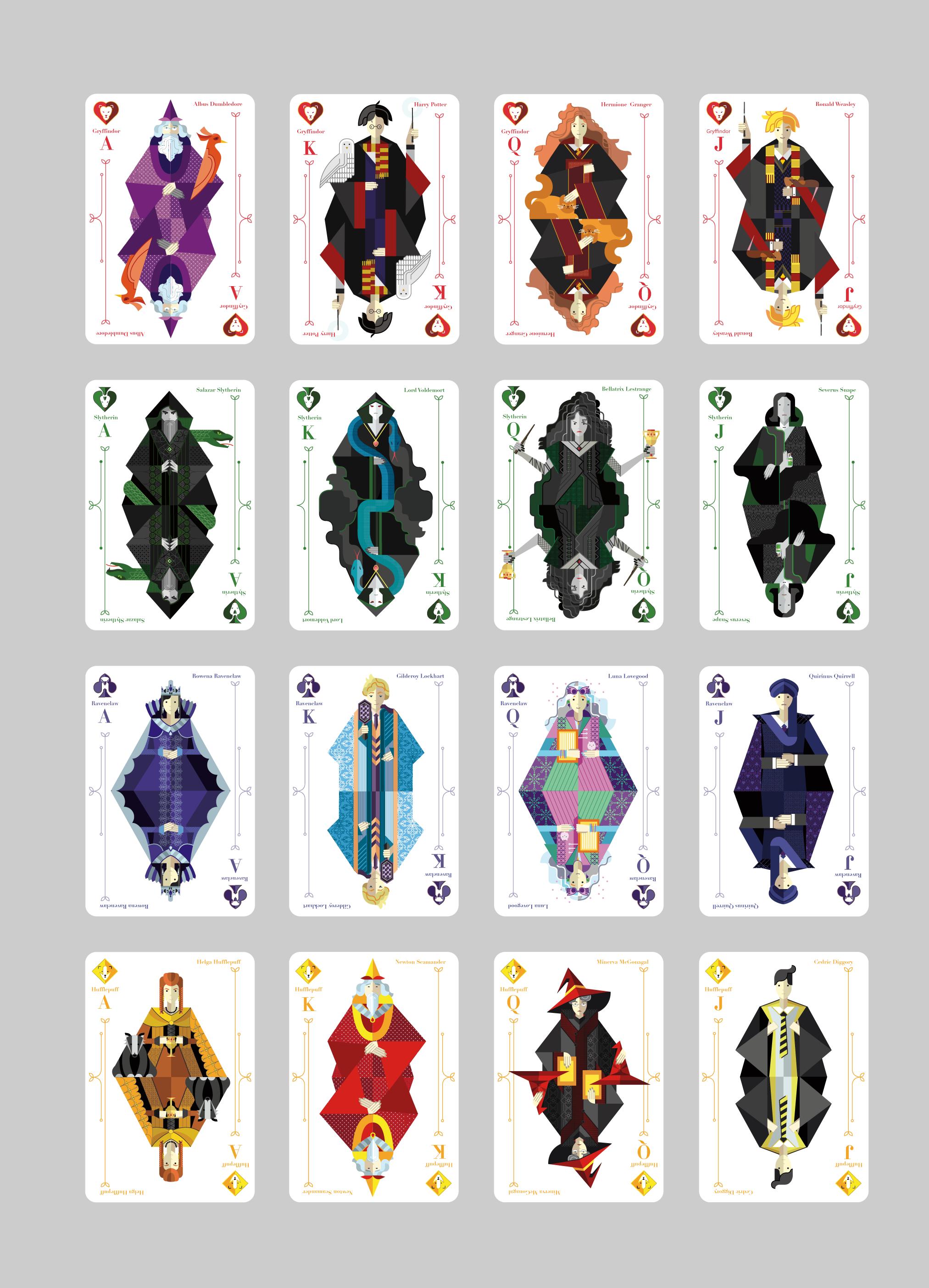 jeu de carte harry potter Cette graphiste imagine un magnifique jeu de cartes avec les