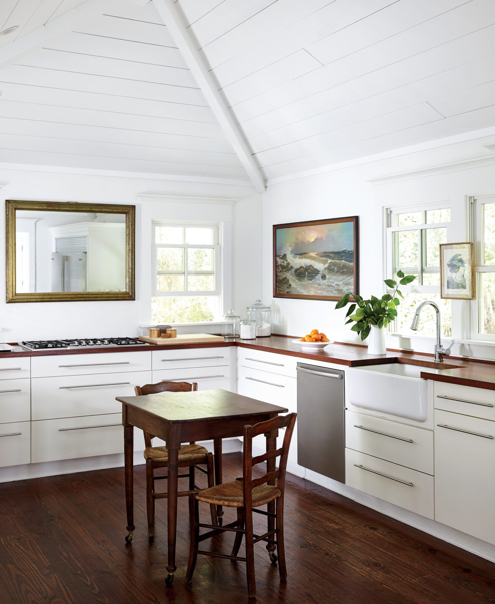 The Airy Kitchen, Where Rita Hayes Left Out Upper Cabinets As A Nod To The