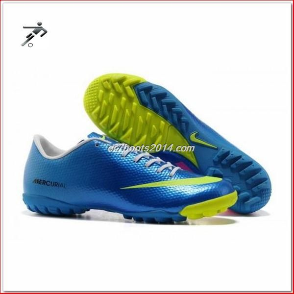 d52a07f87 Football Cleat Scraper Nike Mercurial Victory IV Cr7 Mens Astro Turf  Trainers blue green pink