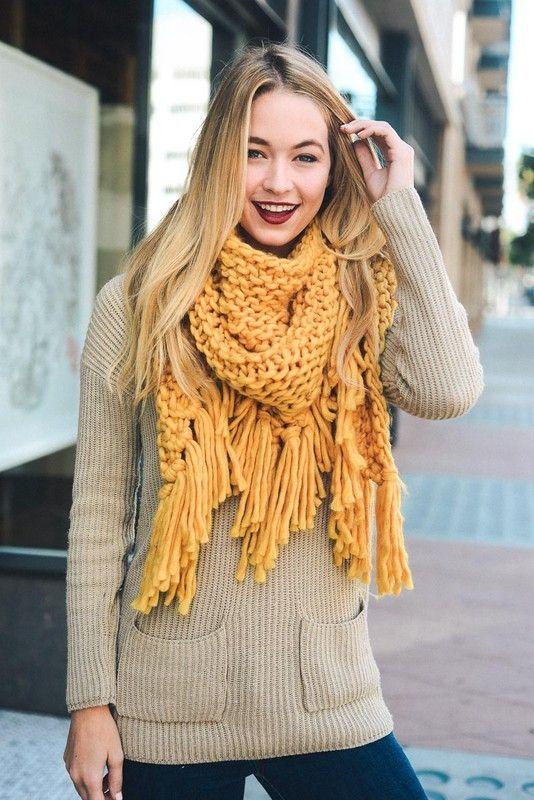 Knit triangle scarf | Tejido, Bonitas y Comprar