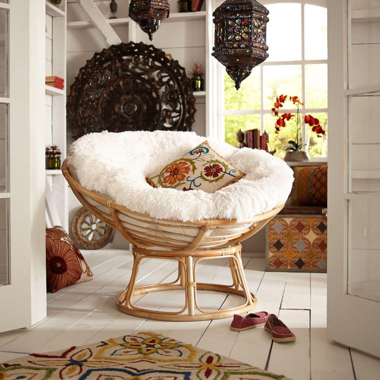 Shaggy Sand Papasan Cushion Products Papasan Cushion Papasan