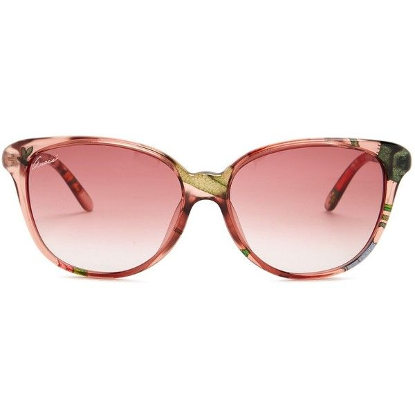 898fcd24b2e65 GUCCI Women s Cat Eye Sunglasses (375 BRL) ❤ liked on Polyvore featuring  accessories,
