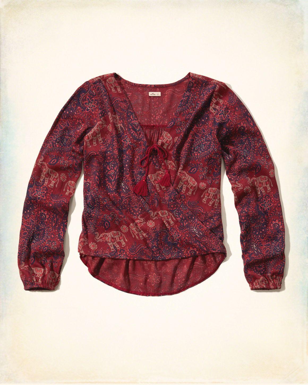 d5bd176f9123 Girls Sale   eu.HollisterCo.com   Tops   Peasant tops, Shirt blouses ...