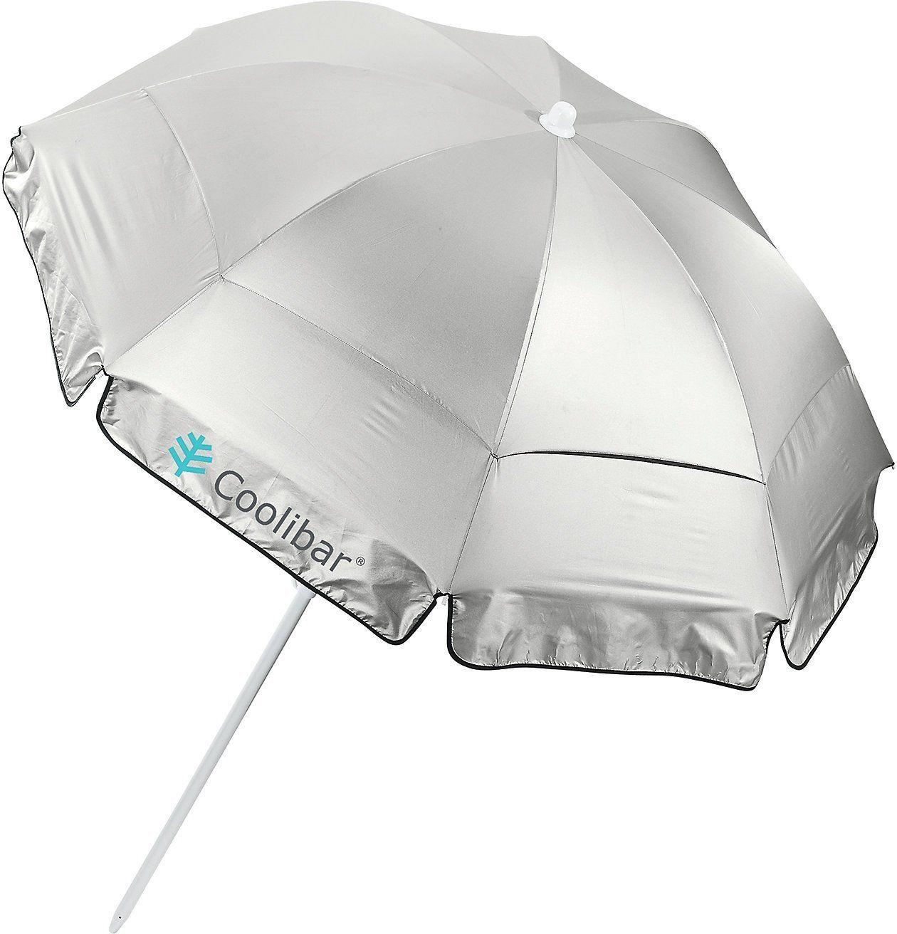 Amazon.com | Coolibar UPF 50+ 6' Titanium Beach Umbrella - Sun Protective | Umbrellas