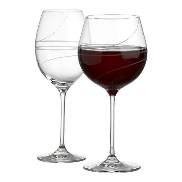 crate barrel kirsi balloon wine glasses each. Black Bedroom Furniture Sets. Home Design Ideas