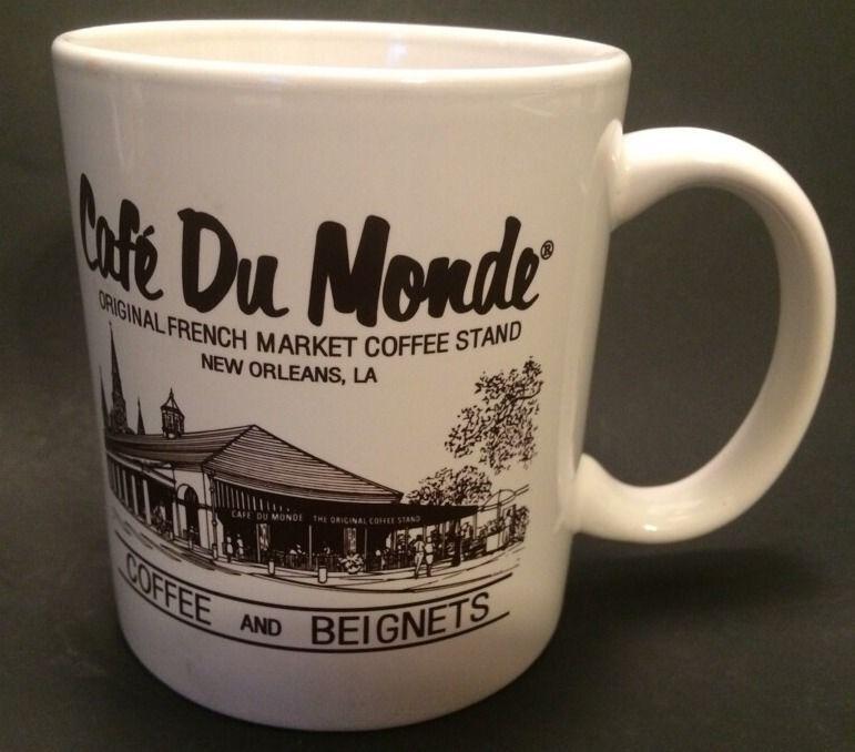 Cafe Du Monde New Orleans Original French Market Coffee Beignets Mug Cup 10 Oz