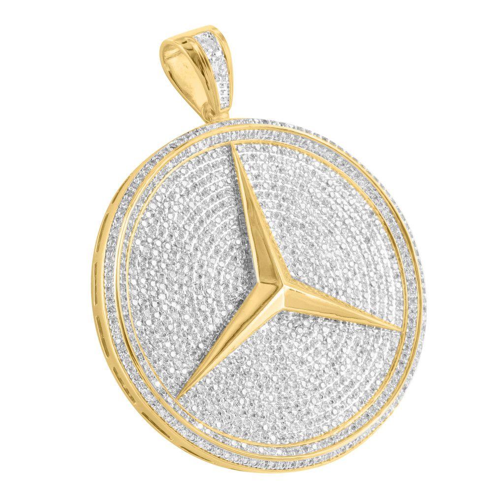 Pendant Luxury Car Logo 14k Gold Finish Lab Diamond 25 Custom