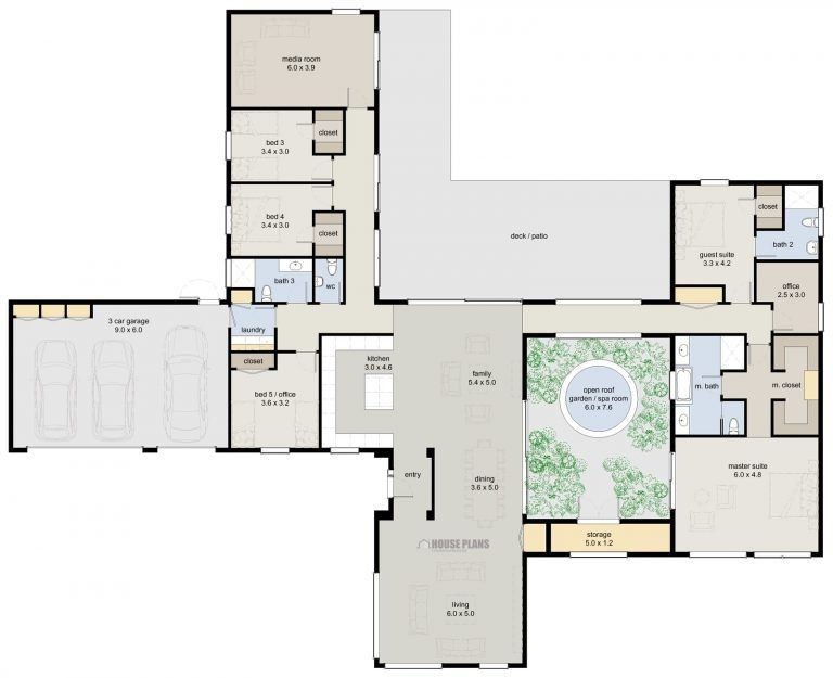Beautiful 4 Bedroom House Plans Nz Planos De Casas Grandes Plano De Arquitecto Planos De Casas Modernas