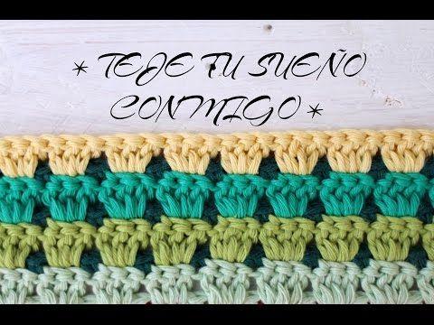 TEJE TU PRIMERA MANTA a CROCHET - CAP.10 I Cucaditas de saluta - YouTube