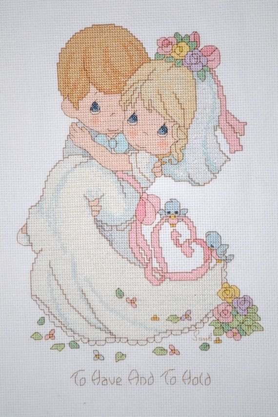 Precious Moments - To Have And To Hold (Wedding) - FINISHED Counted ...