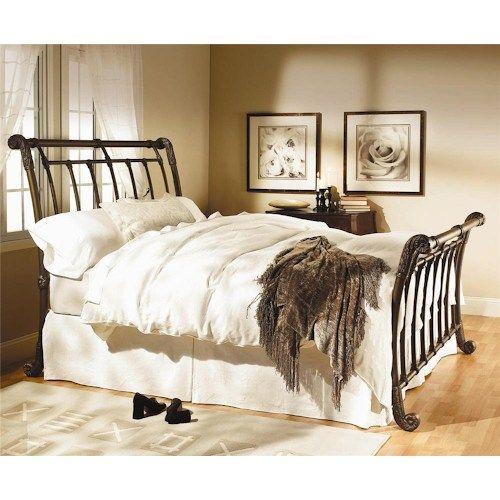 Wesley Allen Iron Beds Brookshire, Metal Sleigh Bed Frame Queen