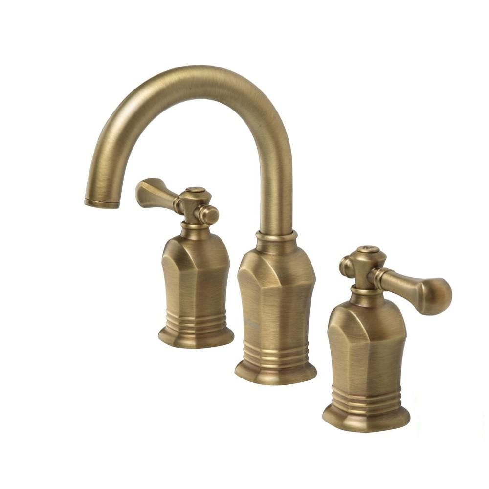 Glacier Bay Verdanza 8 In Widespread 2 Handle High Arc Bathroom Faucet In Antique Brass Hd673 High Arc Bathroom Faucet Bathroom Faucets Brass Bathroom Faucets