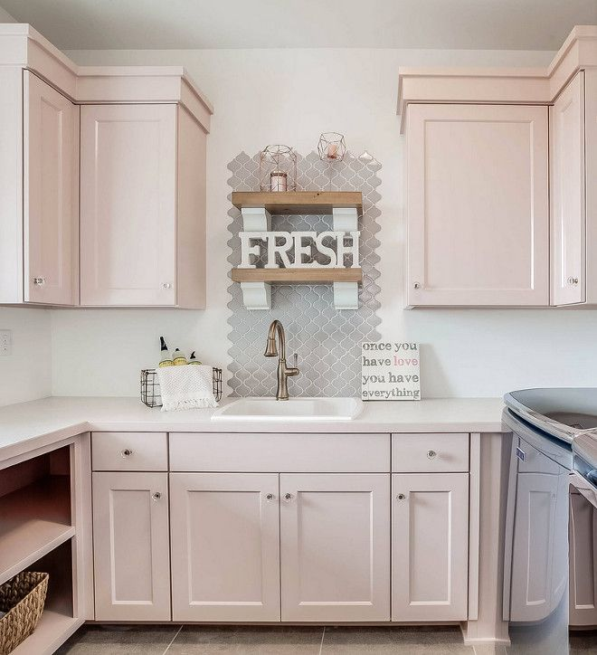 Laundry Room Pantry Ideas Benjamin Moore Antique White: Sherwin Williams SW0070 Pink Shadow Paint Color Girls Bath