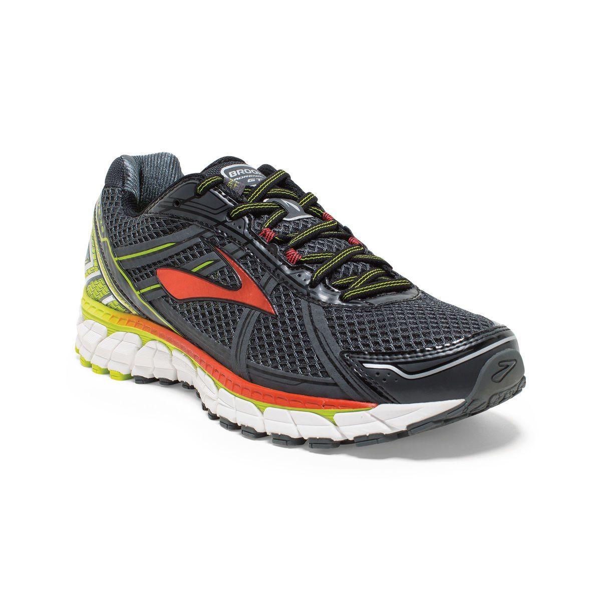 Brooks Adrenaline GTS 15 Road Running Shoe - Men's - D Width Size Color  Anthracite/LimePunch/Orange