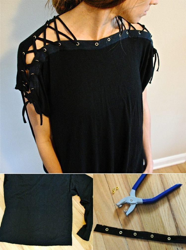 t shirt mit akzent an den schultern gestalten sewing 2. Black Bedroom Furniture Sets. Home Design Ideas