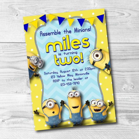 graphic about Minions Invitations Printable named Minions Invitation Printable - Minions Birthday Invite