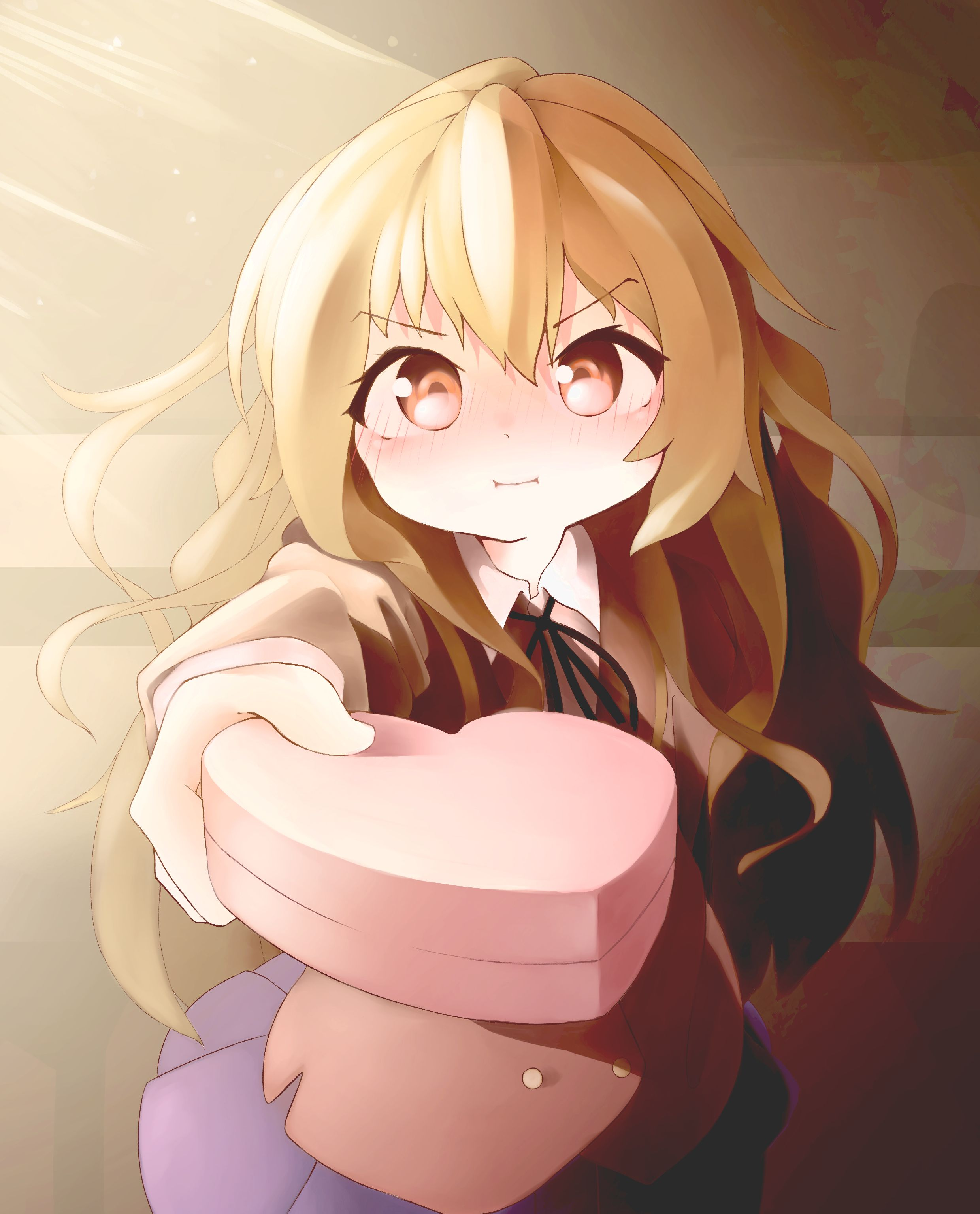 Taiga Pouting As She Gives Valentine S Day Chocolates Toradora In 2020 Toradora Valentines Day Chocolates Anime