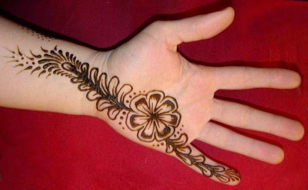 Mehndi Drawings Simple Designs : Simple mehndi designs and