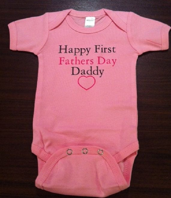 Baby Grows 0-3 3-6 Months Happy 1st Father/'s Day Daddy Dad All Sizes Top Unisex