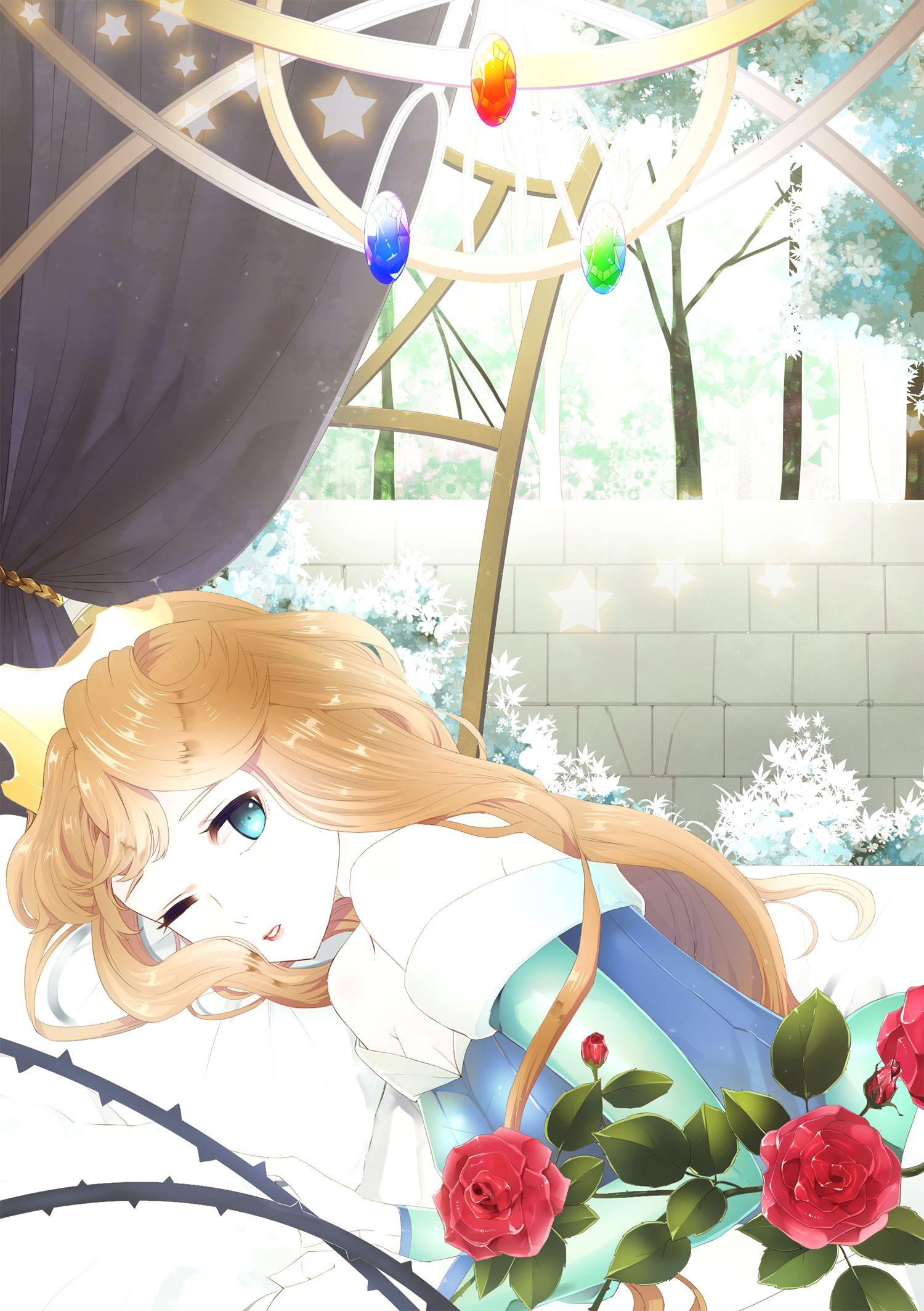 Like a sleeping rose disney anime princess princess aurora