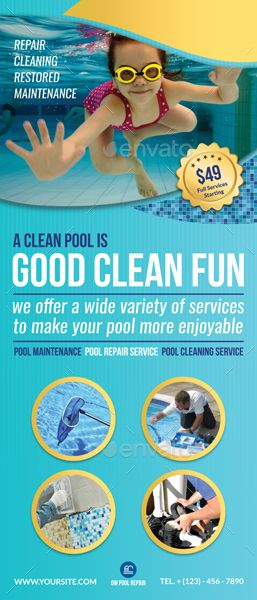 Swimming Pool Cleaning Service Signage Template #Ad #Cleaning, #affiliate, #Pool...