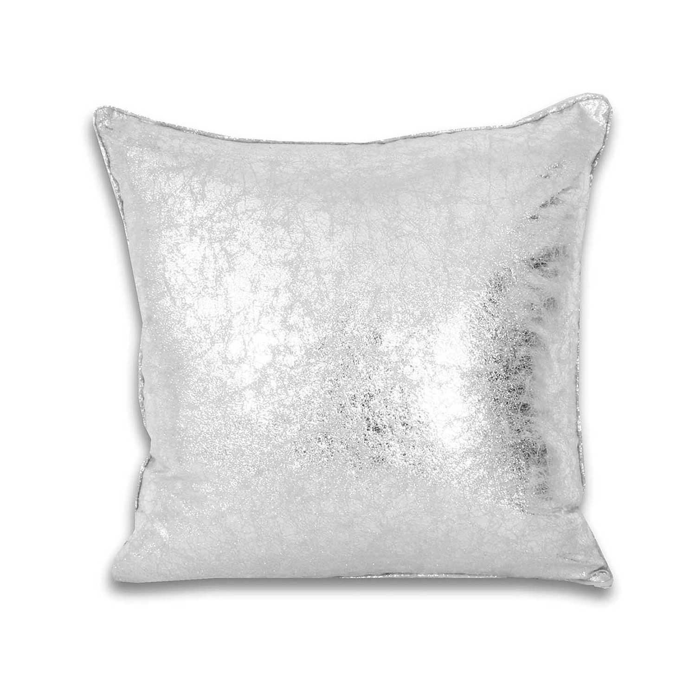 Crackle Metallic Pillow Silver Pillows Metallic Pillow Bed Pillows Decorative