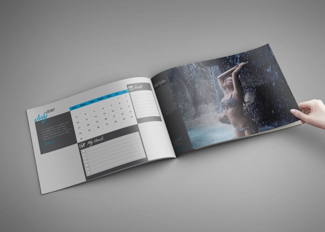 My Calendar Template 2016 – A4 Landscape | Design Haven - Templates ...