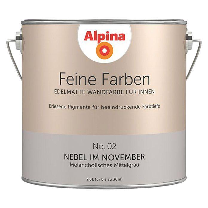 Alpina Feine Farben Wandfarbe Nebel Im November In 2019
