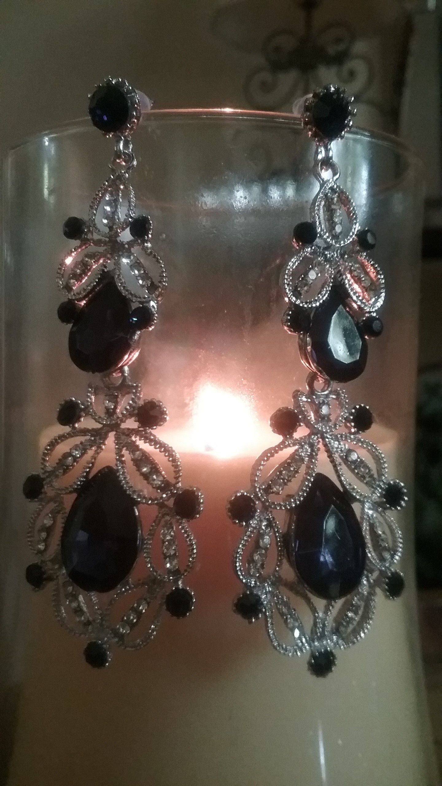 Earrings womens victoria collection sapphire chandelier victoria collection vintage sapphire chandelier earrings arubaitofo Gallery