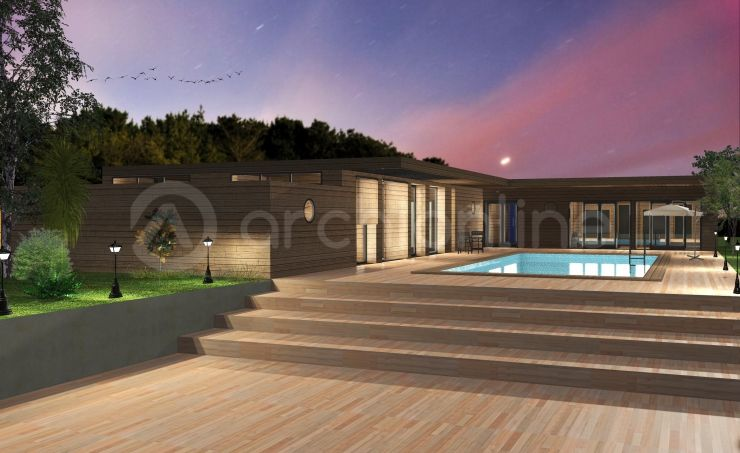 Maison Aneth - Plan de maison Bois réalisé par les partenaires d - construire une maison de 200m2
