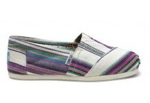 Woven Natural Stripe Classics.... perfect summer shoe