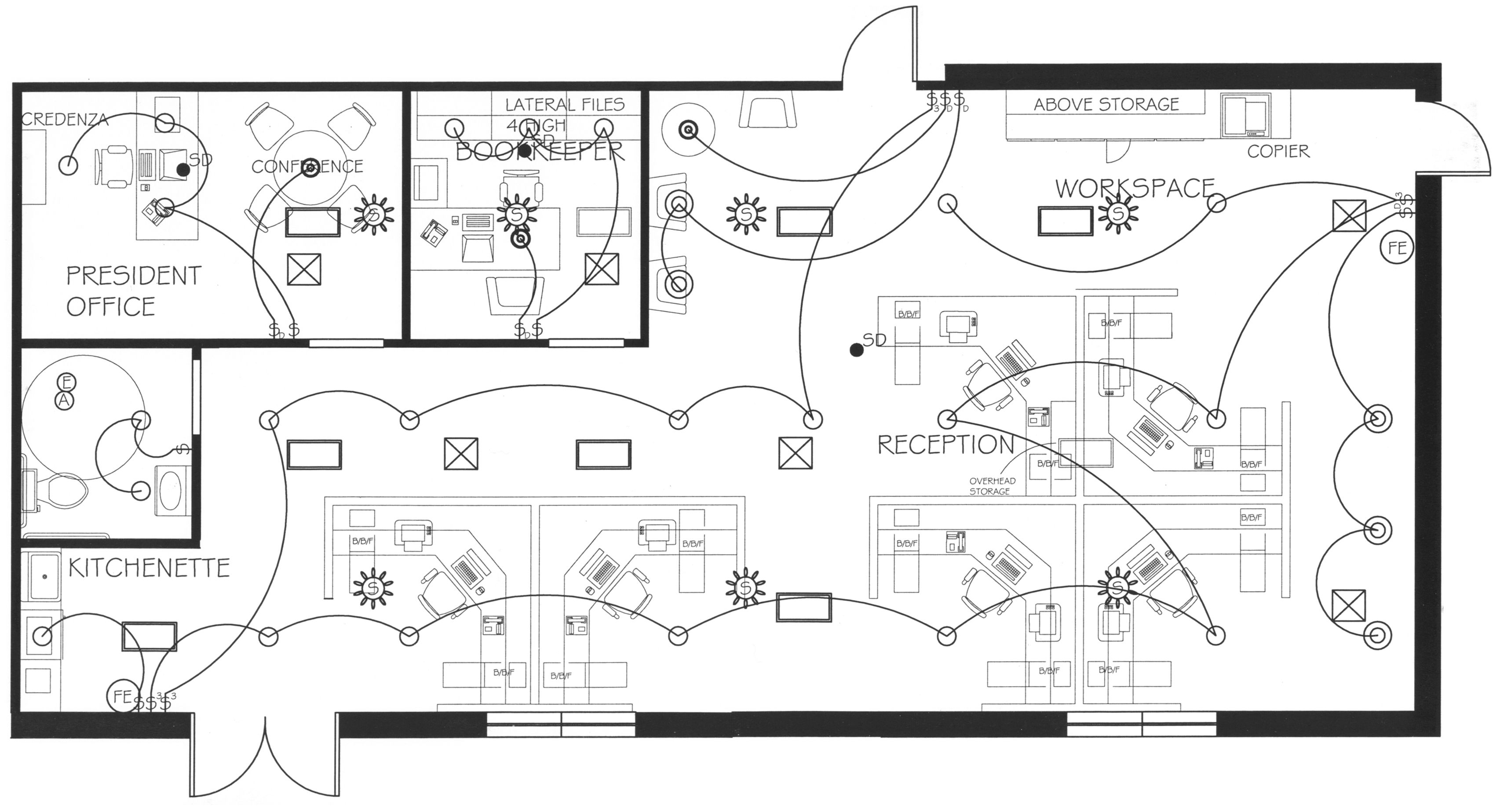 Commercial Lighting Pinterest How To Plan Electrical And Home Wiring Plans Floor Office Layout Lauren Duggers Portfolio Layouts