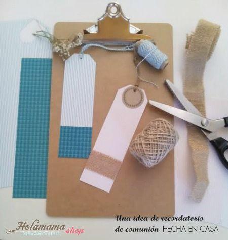 Una idea de recordatorio de comuni n hecha en casa - Detalles de comunion para hacer en casa ...