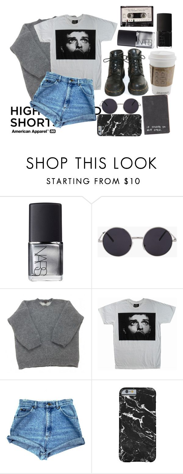 """""""She's Lost Control"""" by jupiter-geese ❤ liked on Polyvore featuring NARS Cosmetics, Dr. Martens, Louis Vuitton and American Apparel"""