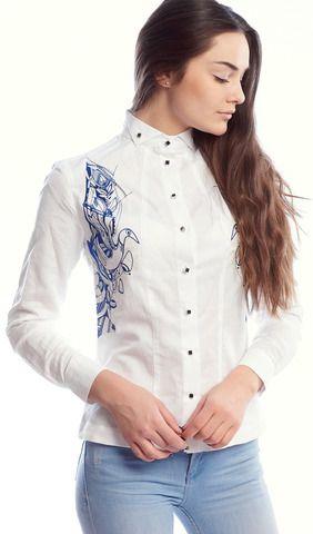Сорочка жіноча біла з вишивкою арт. 928-14 09 купити в Україні і Києві -  відгуки ab3f26b857df2