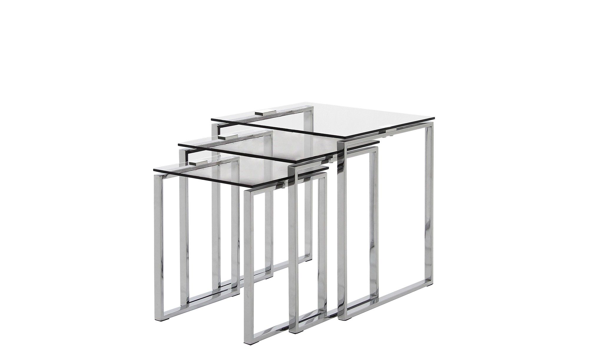 A Modern Console Table With Chrome Finish Legs And Clear Glass Top Featuresmodern Designchrome Finish Legscl Glass Nesting Tables Nesting Tables Coffee Table