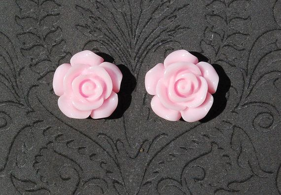 Light Pink Rose Girly Plugs - 6g, 4g, 2g, 0g - ryarr.com