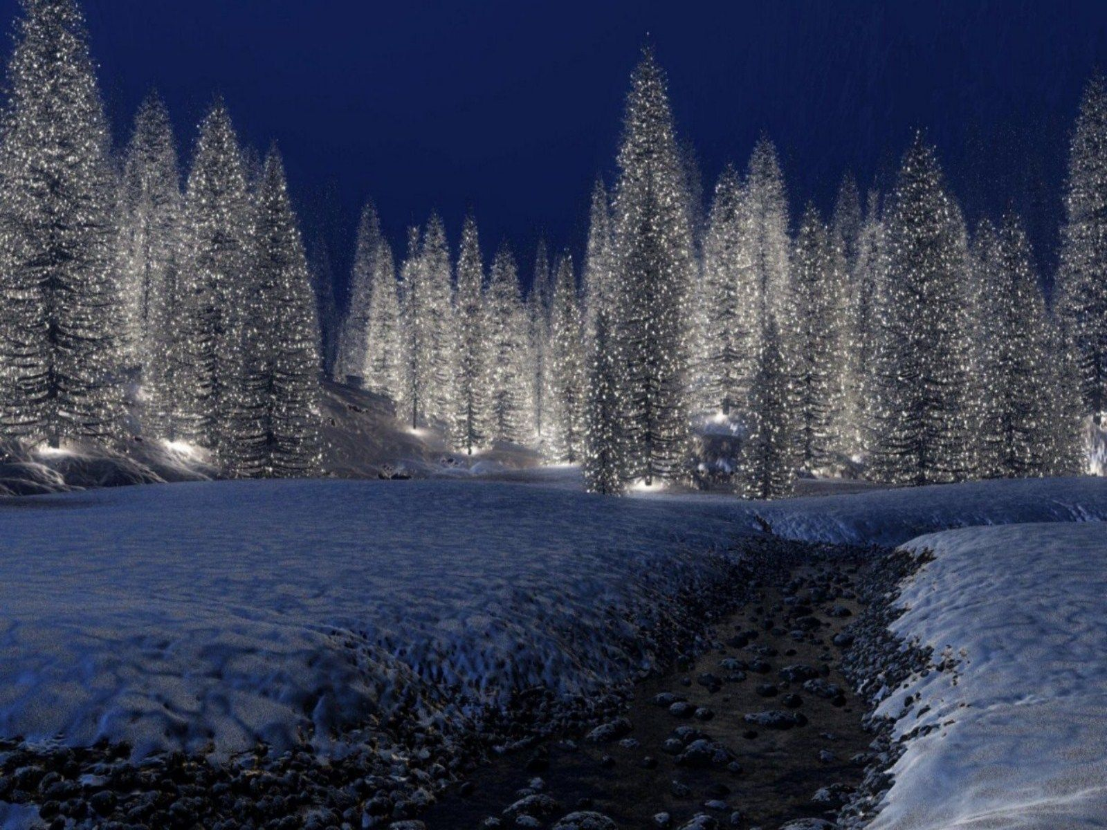 Winter Christmas Backgrounds: Free Download HD Snowy Christmas Scene
