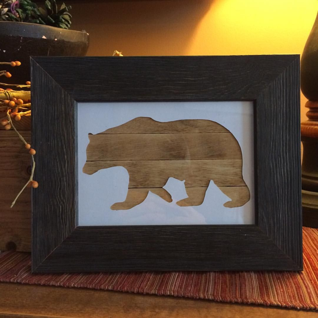 Just added today. Rustic black frame with bear opening! Check it out ...