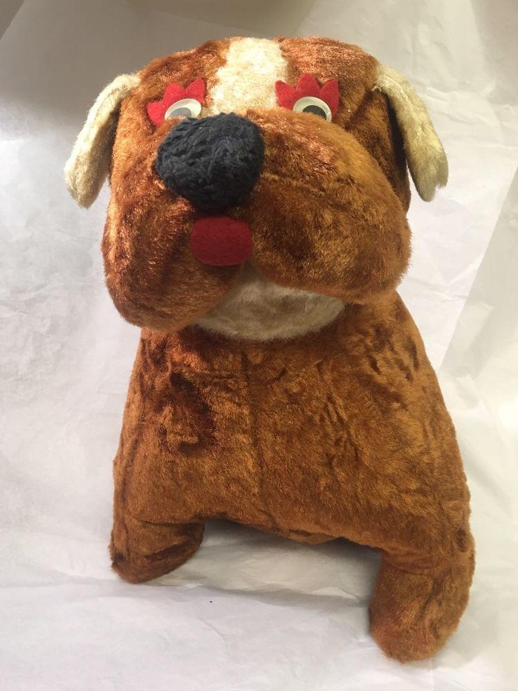 Large Vintage Carnival Bulldog Plush Vintage Ebay Finds