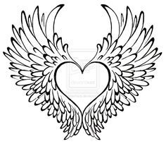 heart with wings tattoo by metacharis on deviantart my carter tat rh pinterest co uk heart and wing tattoo designs heart shaped wing tattoos