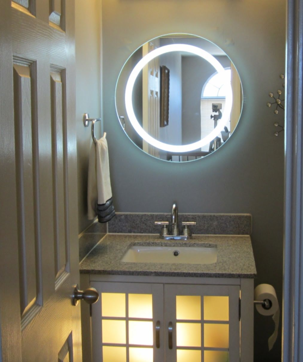 Beautiful Looking Bathroom Mirror With Lights Light Up Bathroom