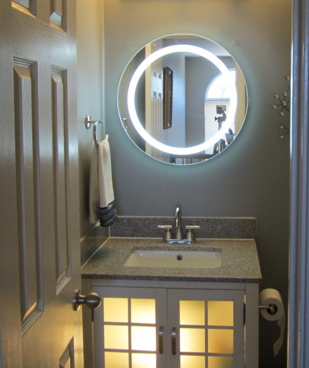 Slowings Com Round Mirror Bathroom Lighted Vanity Mirror Wall Mounted Light