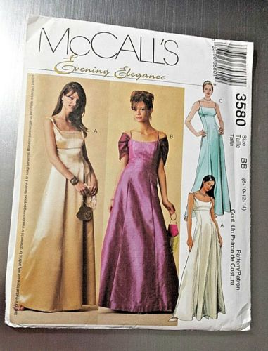 Mccall\'s Sewing Pattern 3580 Medieval Evening Gown Prom Dress Sz BB ...