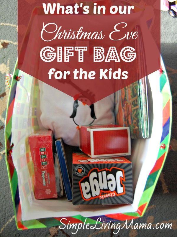 Christmas Eve Gift Tradition - Gift Bag for Kids Christmas eve and